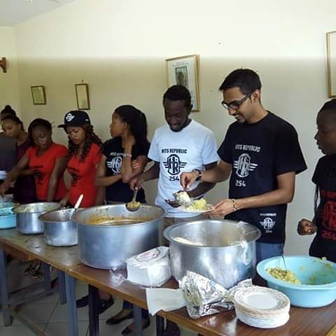 Serving food at the Eldoret Hospice