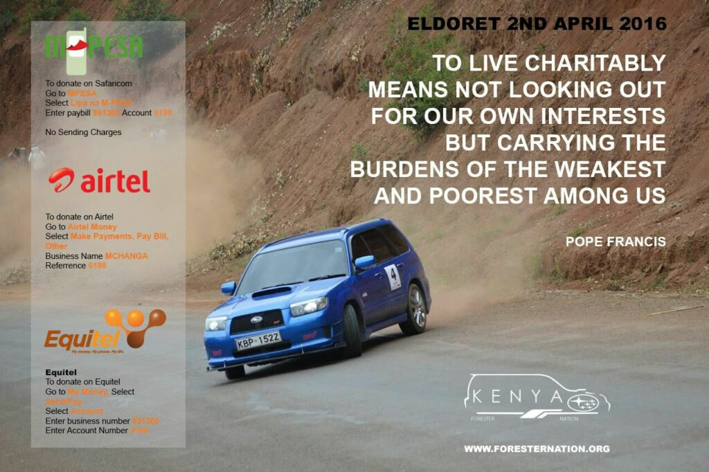 Forester Nation Kenya Eldoret Rescue Centre Charity Run