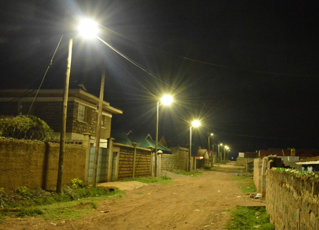 Kapsoya Streets are bright as day