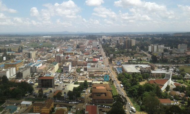 Views from MUPS Plaza, Eldoret Town