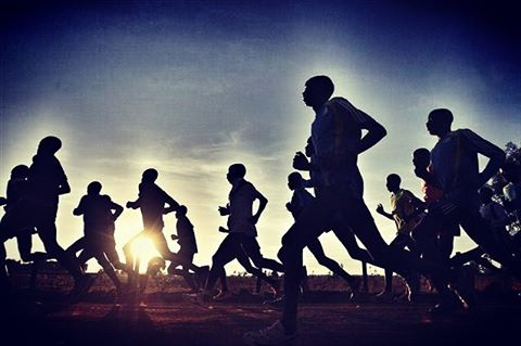 Athletes training in Eldoret Town