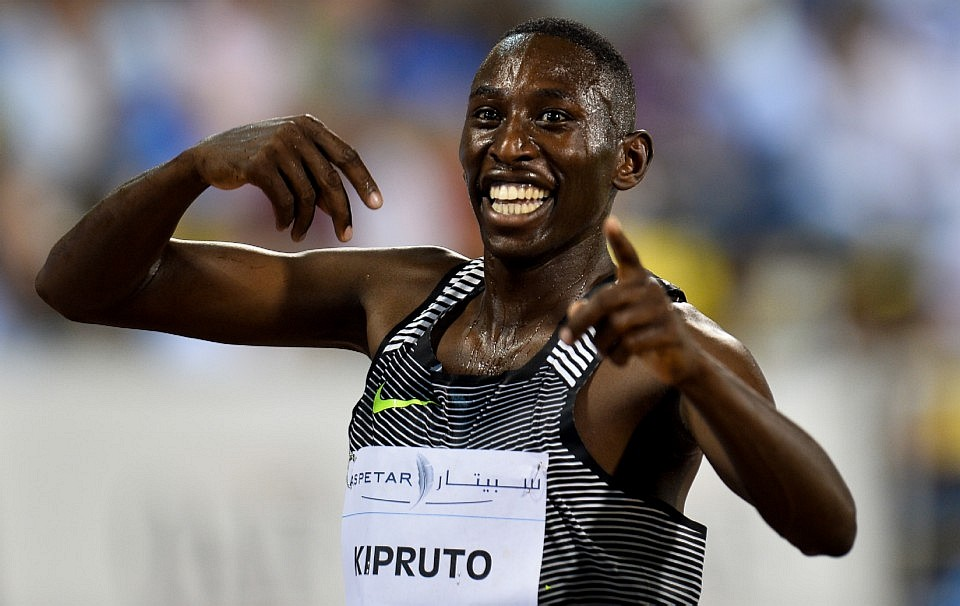 Conselus Kipruto is one of the youngest runners on the team having been born in 1994