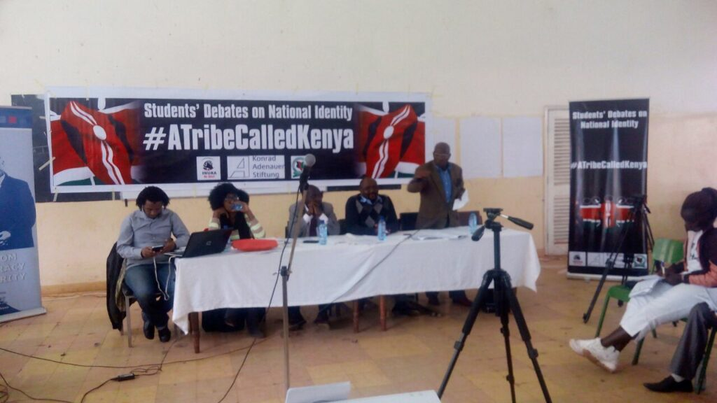 The panel at #ATribeCalledKenya forum in Moi University