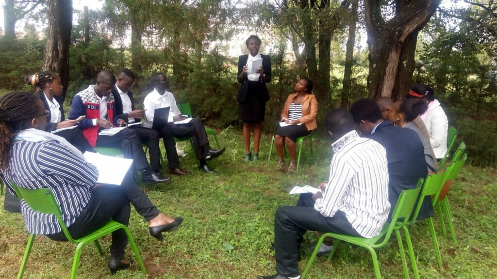 Debaters at the #ATribeCalledKenya Initiative