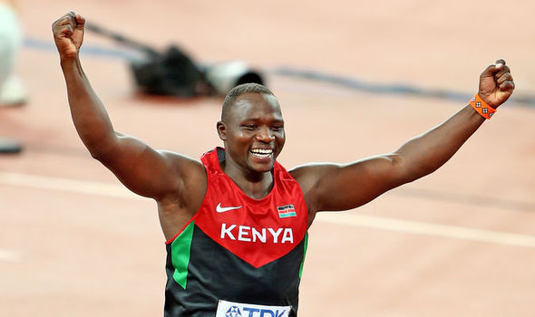 Julius Yego known to have the hand of god competes in the Javelin throw