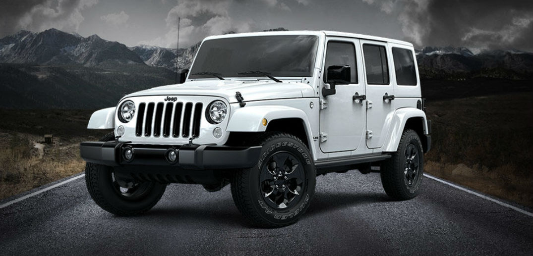 Jeep Wrangler because of its world class interior design and massiveness.