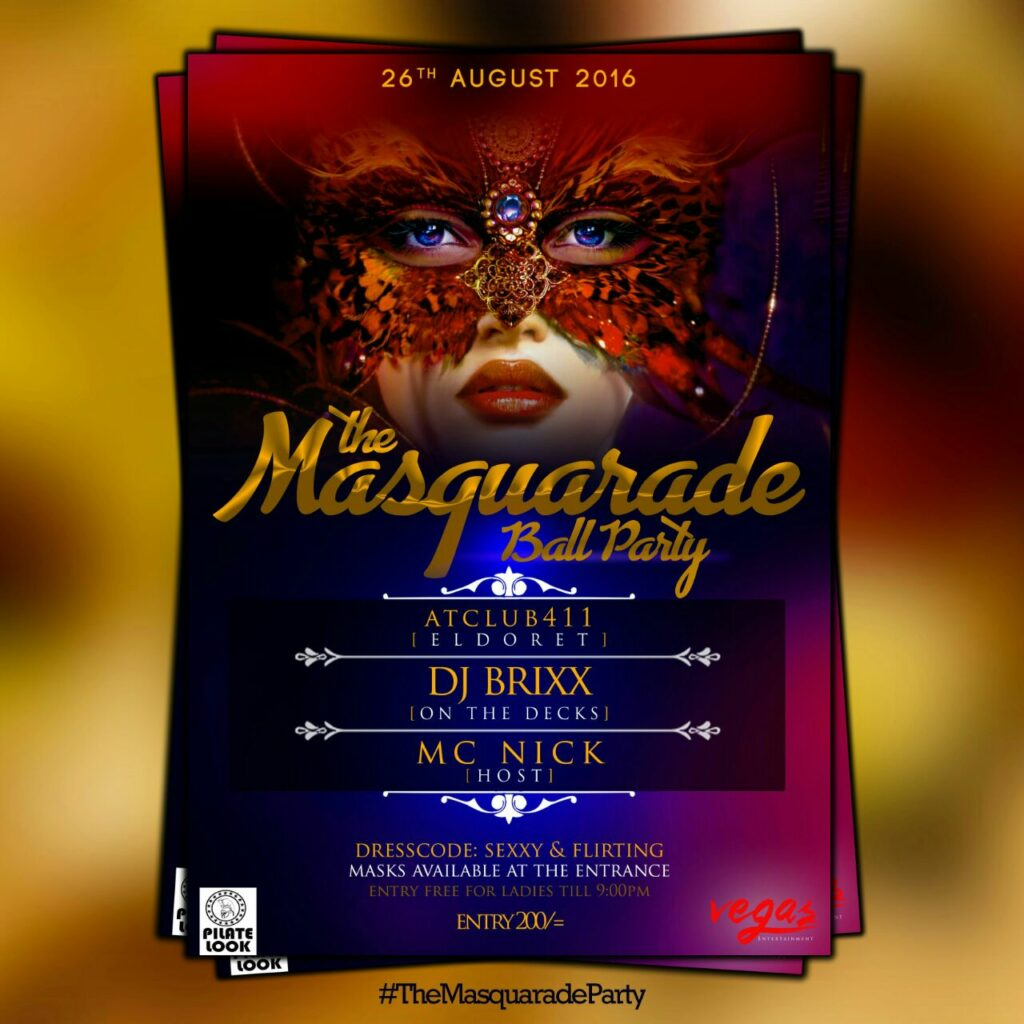 The Masquarade Ball party is happening in Eldoret this weekend