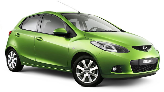 Mazda Demio. Comes in variations of the 1300 cc engine and the 1500cc engine. Estimated to go 15 KM on a single liter of Petrol.