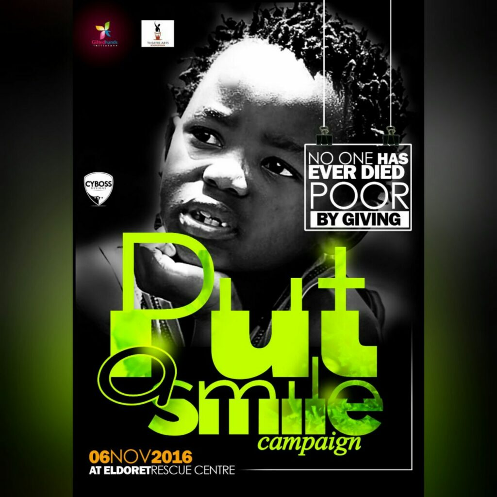Put a smile campaign 2016 at Eldoret Rescue Centre