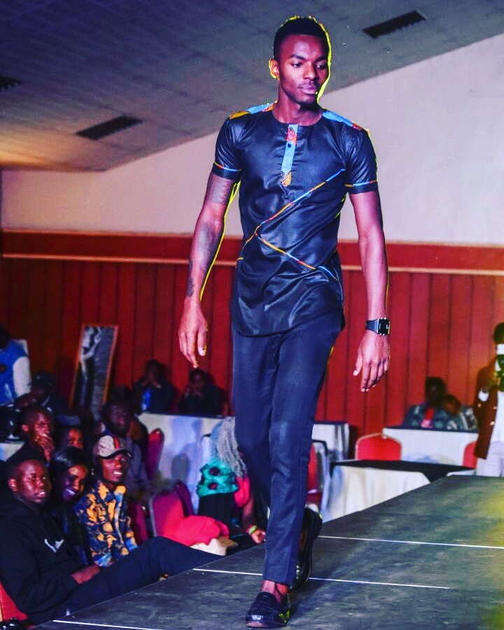 Model Allan Wesh at Kitenge Fashion Fest II