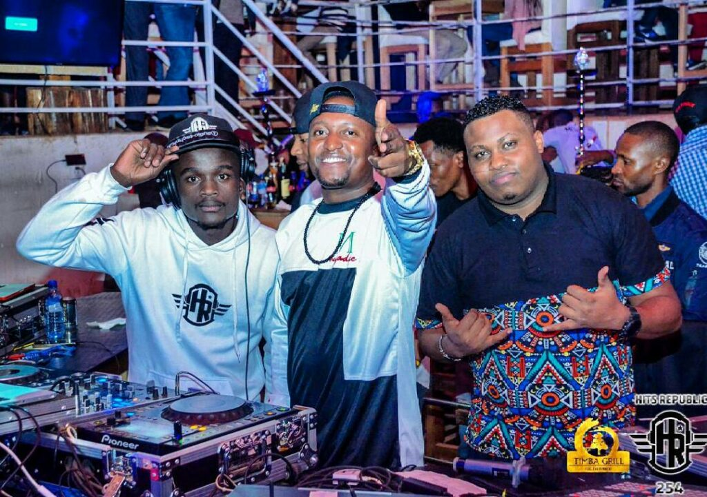 DJ Arnold and Willy M. Tuva at Club Timba, Eldoret