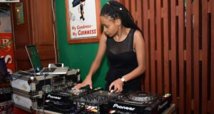 DJ Mellow on the decks at African Queens Night Eldoret