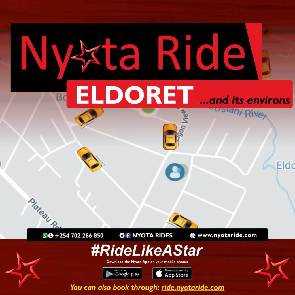 Nyota Ride was the first taxi hailing app in Eldoret