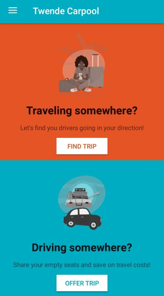 Twende Car Pooling App Intro