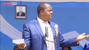 Fred Matiang'i at Embu Stadium