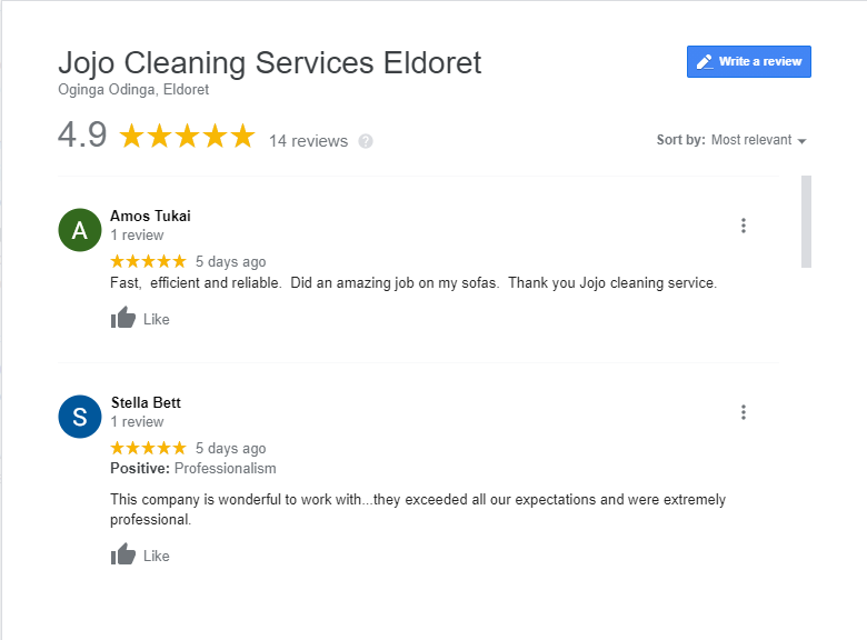 Jojo Cleaning Services Eldoret Review
