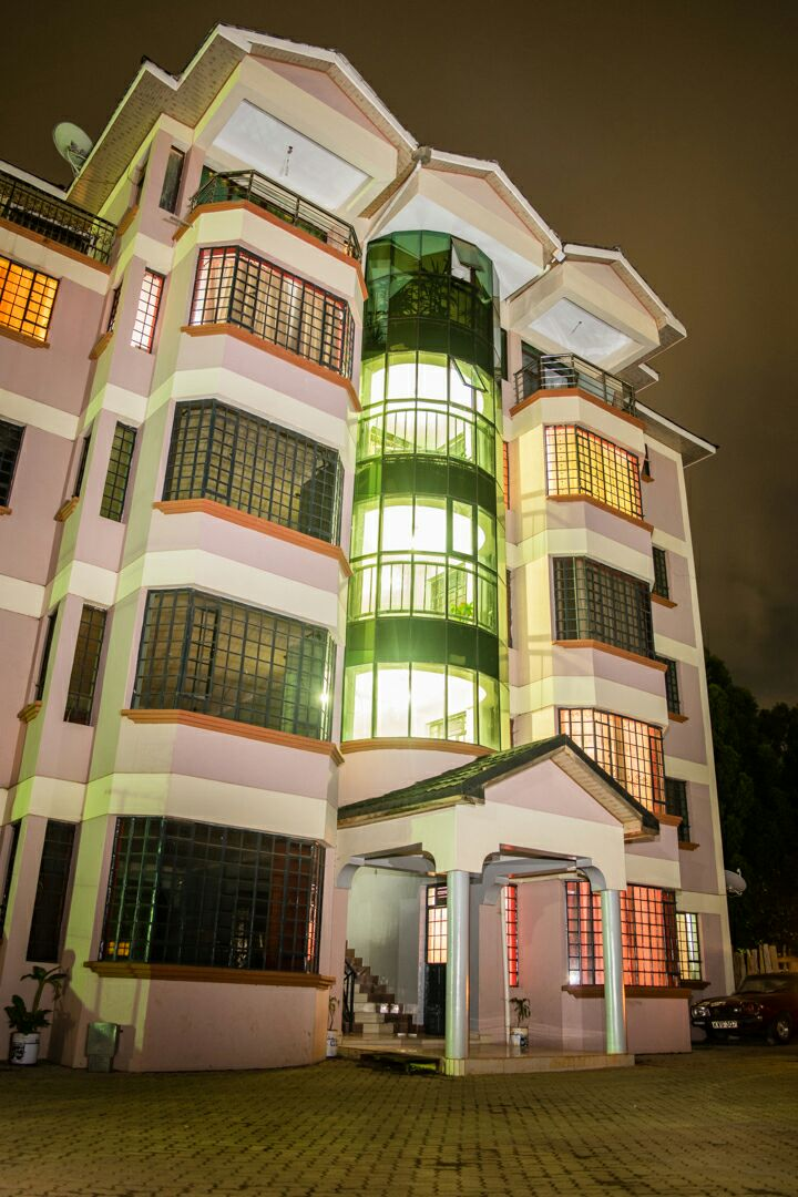 Night view of the Apartments
