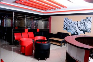 Platinum Scissors barber shop in Eldoret Lounge